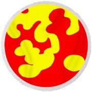 Bolliwoxer Round Beach Towel by Eikoni Images