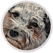 Bolognese Breed Round Beach Towel