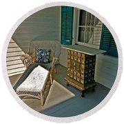 Bon Secour Lounge On The Porch Round Beach Towel