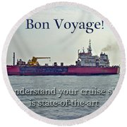 Bon Voyage Greeting Card - Enjoy Your Cruise Round Beach Towel