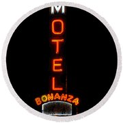 Bonanza Lodge Motel Round Beach Towel