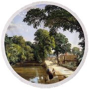 Bonchurch Isle Of Wight Round Beach Towel