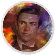 Bond - James Bond - Square Version Round Beach Towel