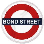 Bond Street Round Beach Towel
