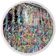 Bonfim Wish Ribbons Round Beach Towel