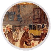 Bonnard: Place Clichy Round Beach Towel
