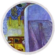 bonnard44 Pierre Bonnard Round Beach Towel