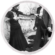 Bonnie And Clyde, 1933 Round Beach Towel