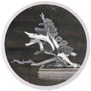 Bonsai #4 Round Beach Towel by Richard Le Page