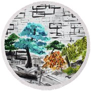 Bonsai And Penjing Museum 3 201733 Round Beach Towel
