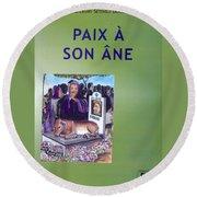 Book Cover Paix A Son Ane Round Beach Towel