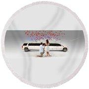 Book Elite Limousine Services For Wedding - Elite Limo Round Beach Towel