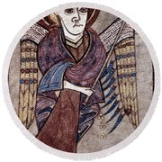 Book Of Kells: St. Matthew Round Beach Towel