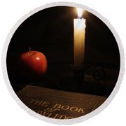 Book Of Knowledge  Round Beach Towel