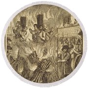 Book Of Martyrs, 1563 Round Beach Towel