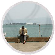 Bookends Round Beach Towel