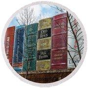 Books Plus Kansas City Round Beach Towel