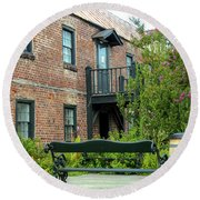 Boone Hall Cotton Gin Round Beach Towel