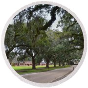 Boone Hall Plantation Round Beach Towel