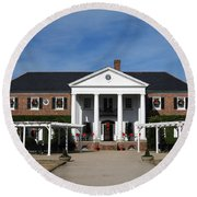 Boone Hall Plantation Charleston Sc Round Beach Towel