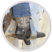 Boot And Spur Round Beach Towel