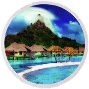 Bora Bora Round Beach Towel