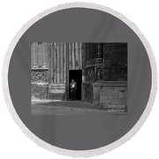 Bordeaux Church Door Round Beach Towel