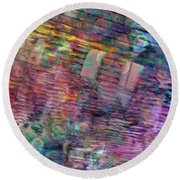 Border Crossing Round Beach Towel