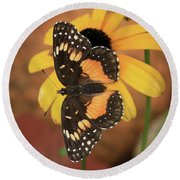 Bordered Patch Round Beach Towel