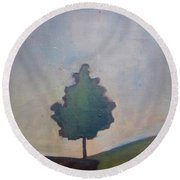 Bordering Tree Round Beach Towel