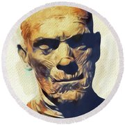 Boris Karloff, The Mummy Round Beach Towel