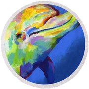 Born To Live Free Round Beach Towel