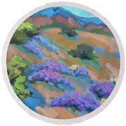 Borrego Springs Verbena Round Beach Towel