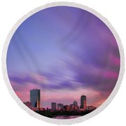 Boston Afterglow Round Beach Towel by Rick Berk