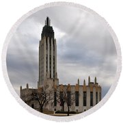 Boston Avenue Methodist Church Round Beach Towel