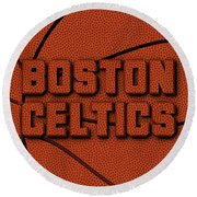 Boston Celtics Leather Art Round Beach Towel