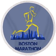 Boston Marathon5 Round Beach Towel