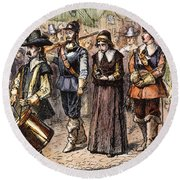 Boston: Mary Dyer, 1660 Round Beach Towel