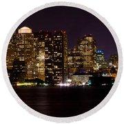 Boston Massachusetts - Panoramic Round Beach Towel