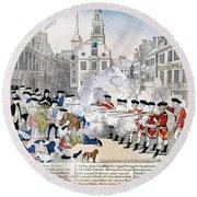 Boston Massacre, 1770 Round Beach Towel