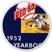 Boston Red Sox 1952 Yearbook Round Beach Towel