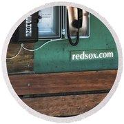 Boston Red Sox Dugout Telephone Round Beach Towel