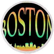 Boston Skyline 10 Round Beach Towel