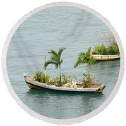 Botanic Garden On The Water Round Beach Towel
