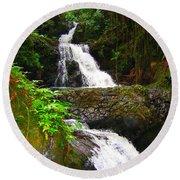 Botanic Gardens Waterfall Round Beach Towel