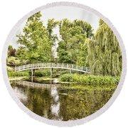 Botanical Bridge - Van Gogh Round Beach Towel