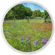 Botanical Variety Show In The Texas Hill Country Round Beach Towel