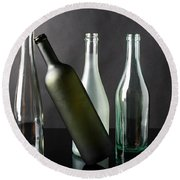 Bottle Collection Round Beach Towel