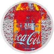 Bottle Of Coca-cola Round Beach Towel