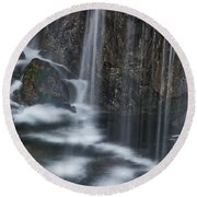 Bottom Of A Waterfall #3 Round Beach Towel